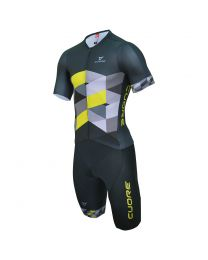 Gold Short Sleeve 2 in 1 Tri Suit