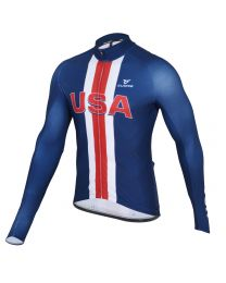 USA Men's Silver L/Sleeve Thermal Jersey