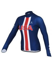 USA Women's Silver L/Sleeve Thermal Jersey